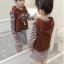 เสื้อกั๊ก+เสื้อตัวใน สีน้ำตาล แพ็ค 5 ชุด ไซส์ 120-130-140-150-160 (เลือกไซส์ได้) thumbnail 6
