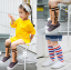 ถุงเท้ายาว สีกากี แพ็ค 10 คู่ ไซส์ M (3-5 ปี) thumbnail 2