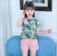 เสื้อ+กางเกง สีชมพู แพ็ค 5 ชุด ไซส์ 120-130-140-150-160 (เลือกไซส์ได้) thumbnail 1