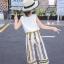 เสื้อ+กางเกง สีเหลือง แพ็ค 6 ชุด ไซส์ 110-120-130-140-150-160 (เลือกไซส์ได้) thumbnail 9