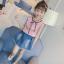 เสื้อ+กระโปรง สีชมพู แพ็ค 5 ชุด ไซส์ 120-130-140-150-160 (เลือกไซส์ได้) thumbnail 4