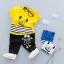 ชุดเซตเสื้อสีเหลืองลายมอนสเตอร์+กางเกงสีดำ แพ็ค 4 ชุด [size 6m-1y-2y-3y] thumbnail 1