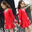 ชุดกระโปรง สีแดง แพ็ค 5 ชุด ไซส์ 110-120-130-140 (เลือกไซส์ได้) thumbnail 1