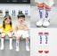 ถุงเท้ายาว สีส้ม แพ็ค 10 คู่ ไซส์ M (3-5 ปี) thumbnail 2