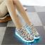 รองเท้าผ้าใบมีไฟ LED ลายโน้ตดนตรี (เปลี่ยนสีได้ 7 สี) thumbnail 6