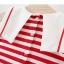 ชุดเดรสลายขวางสีแดงปกคอแต่งลายหัวใจ [size 6m-1y-18m] thumbnail 4