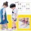ถุงเท้าสั้น คละสี แพ็ค 10คู่ ไซส์ M (อายุประมาณ 3-5 ปี) thumbnail 1