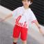 เสื้อ+กางเกง สีแดง แพ็ค 5 ชุด ไซส์ 120-130-140-150-160 (เลือกไซส์ได้) thumbnail 3