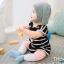 ถุงเท้ายาว สีชมพู+ฟ้า แพ็ค 10 คู่ ไซส์ M (อายุประมาณ 6-12 เดือน) thumbnail 1