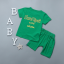 เสื้อ+กางเกง สีเขียว แพ็ค 4 ชุด ไซส์ 80-90-100-110 thumbnail 2