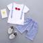 เสื้อ+กางเกง สีน้ำเงิน แพ็ค 4 ชุด ไซส์ 80-90-100-110 thumbnail 1