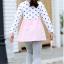 เสื้อ สีชมพู แพ็ค 5 ชุด ไซส์ 80-90-100-110-120 (เลือกไซส์ได้) thumbnail 5