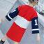 เสื้อยาว สีแดง แพ็ค 5 ชุด ไซส์ 120-130-140-150-160 (เลือกไซส์ได้) thumbnail 4