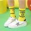 ถุงเท้าสั้น สีเหลือง แพ็ค 12 คู่ ไซส์ S ประมาณ 1-3 ปี thumbnail 2