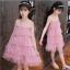 ชุดกระโปรง สีชมพู แพ็ค 5 ชุด ไซส์ 110-120-130-140-150 (เลือกไซส์ได้) thumbnail 1