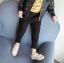 กางเกง สีดำ แพ็ค 5ชุด ไซส์ 100-110-120-130-140 thumbnail 2