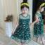 ชุดกระโปรง สีเขียว แพ็ค 6 ชุด ไซส์ 110-120-130-140-150-160 thumbnail 4