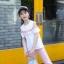 เสื้อ+กางเกง สีชมพู แพ็ค 6 ชุด ไซส์ 110-120-130-140-150-160 (เลือกไซส์ได้) thumbnail 7