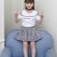 เสื้อ+กระโปรง สีขาว แพ็ค 5 ชุด ไซส์ 120-130-140-150-160 (เลือกไซส์ได้) thumbnail 2