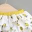 ชุดเซตเสื้อสีขาวลายเลมอน+กางเกงใน แพ็ค 4 ชุด [size 6m-1y-18m-2y] thumbnail 6