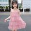 ชุดกระโปรง สีชมพู แพ็ค 5 ชุด ไซส์ 110-120-130-140-150 (เลือกไซส์ได้) thumbnail 5