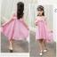 ชุดกระโปรง สีชมพู แพ็ค 5 ชุด ไซส์ 120-130-140-150-160 (เลือกไซส์ได้) thumbnail 5