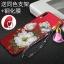 เคส Samsung A8 Star ซิลิโคนสกรีนดอกไม้สวยงามมาก พร้อมสายคล้องมือ (แหวนแล้วแต่ร้านจีนแถมหรือไม่) ราคาถูก thumbnail 9