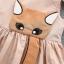ชุดเดรสสีส้มอ่อนลายน้องแมวจับหนู [size 6m-1y-18m-2y] thumbnail 2