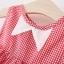 ชุดเดรสลายสก็อตสีแดงปกคอสีขาว แพ็ค 3 ชุด [size 1y-18m-2y] thumbnail 3