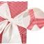ชุดเดรสลายขวางสีแดงแต่งโบว์สีขาวที่เอว แพ็ค 5 ชุด [size 6m-1y-18m-2y-3y] thumbnail 2