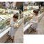 ชุดเดรสสีขาวลายขวางแต่งลายแตงโมที่หน้าอก [size 2y-3y-4y-5y-6y] thumbnail 1
