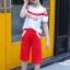 เสื้อ+กางเกง สีแดง แพ็ค 6 ชุด ไซส์ 110-120-130-140-150-160 (เลือกไซส์ได้) thumbnail 3