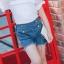 กางเกงยีนส์ขาสั้นแต่งกระดุมสีทอง แพ็ค 5 ชิ้น [size 2y-3y-4y-5y-6y] thumbnail 2