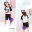 เสื้อ+กางเกง สีดำ แพ็ค 5 ชุด ไซส์ 90-100-110-120-130 (เลือกไซส์ได้) thumbnail 5