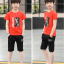เสื้อ+กางเกง สีแดง แพ็ค 5 ชุด ไซส์ 130-140-150-160-170 (เลือกไซส์ได้) thumbnail 3