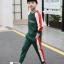เสื้อ+กางเกง สีเขียว แพ็ค 5 ชุด ไซส์ 120-130-140-150-160 (เลือกไซส์ได้) thumbnail 3