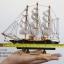 โมเดลเรือสำเภาไม้ขนาด 8 นิ้ว แต่งโต๊ะทำงาน สำหรับการตกแต่งบ้านและร้านค้าทั่วไป No.1 thumbnail 1