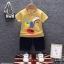 ชุดเซตเสื้อลายขวางสีเหลือง+กางเกงสียีนส์เข้ม แพ็ค 4 ชุด [size 6m-1y-2y-3y] thumbnail 1