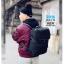 กระเป๋าเป้สะพายหนังผสมไนลอน แบบ หยางหยาง (สีดำ) thumbnail 6