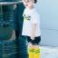 ถุงเท้ายาว สีเหลือง แพ็ค 12 คู่ ไซส์ L ประมาณ 6-8 ปี thumbnail 2
