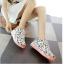 รองเท้าผ้าใบมีไฟ LED ลายโน้ตดนตรี (เปลี่ยนสีได้ 7 สี) thumbnail 7