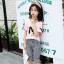 เสื้อ+กางเกง สีชมพู แพ็ค 6 ชุด ไซส์ 110-120-130-140-150-160 (เลือกไซส์ได้) thumbnail 1