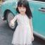 ชุดเดรสสีขาวปักลายดอกไม้ที่หน้าอก [size 2y-3y-4y-5y-6y] thumbnail 1