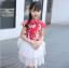 ชุดกระโปรง สีแดง แพ็ค 5 ชุด ไซส์ 120-130-140-150-160 (เลือกไซส์ได้) thumbnail 1