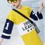 เสื้อยาว สีเหลือง แพ็ค 5 ชุด ไซส์ 120-130-140-150-160 (เลือกไซส์ได้) thumbnail 3