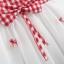 ชุดเดรสลายสก็อตสีแดงแต่งโบว์ที่เอวและกระโปรง [size 6m-1y-18m-2y] thumbnail 6