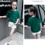 เสื้อ สีเขียว แพ็ค 5 ชุด ไซส์ 120-130-140-150-160 (เลือกไซส์ได้) thumbnail 2