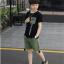 เสื้อ+กางเกง สีดำ แพ็ค 5 ชุด ไซส์ 130-140-150-160-170 (เลือกไซส์ได้) thumbnail 2