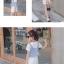 ชุดเดรสสีขาว+เสื้อกั๊กลายทางสีฟ้า [size 2y-3y-4y-5y-6y] thumbnail 3