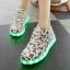 รองเท้าผ้าใบมีไฟ LED ลายโน้ตดนตรี (เปลี่ยนสีได้ 7 สี) thumbnail 5